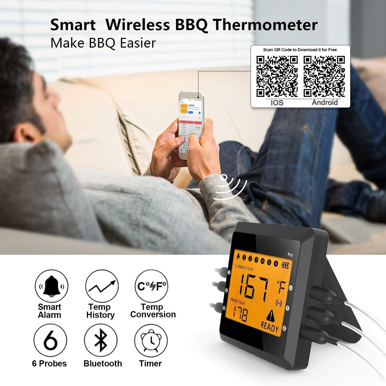 Digital Meat thermometer for Grilling Grilling Grilling  ICOCO Best Instant Read Oven Meat Thermo 77512e