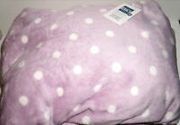 The Big One Plush Oversized Throw Blanket purple Dot 60x72 In Package