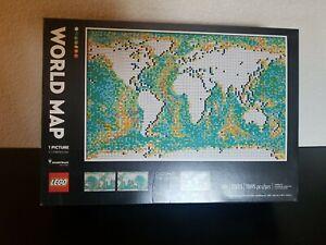 LEGO 31203 ART World Map - Large set of 11695 PC's Brand New / Sealed - Photos*