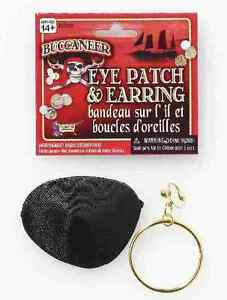 Accessory-034-PIRATE-GOLD-CLIP-EARRING-amp-EYE-PATCH-034-Buccaneer-Basic-Set-by-FORUM