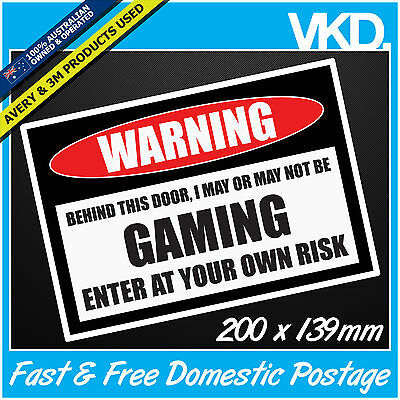 GAMING Sign Sticker/ Decal - Beer VB Bar Man Cave Funny PC XBOX PLAYSTATION