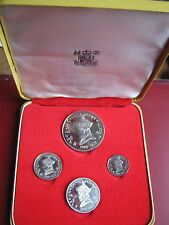 Bhutan 1966 4 Proof coin set collection Accession 40th Anniversary by Royal Mint