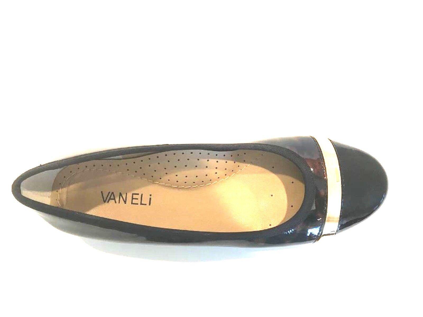 VANELI -'SEBELIE'- Slip-On Flats-Tortoise Pattern Black Leather Leather Leather   Sz. 9 MED  NIB 1b3eac