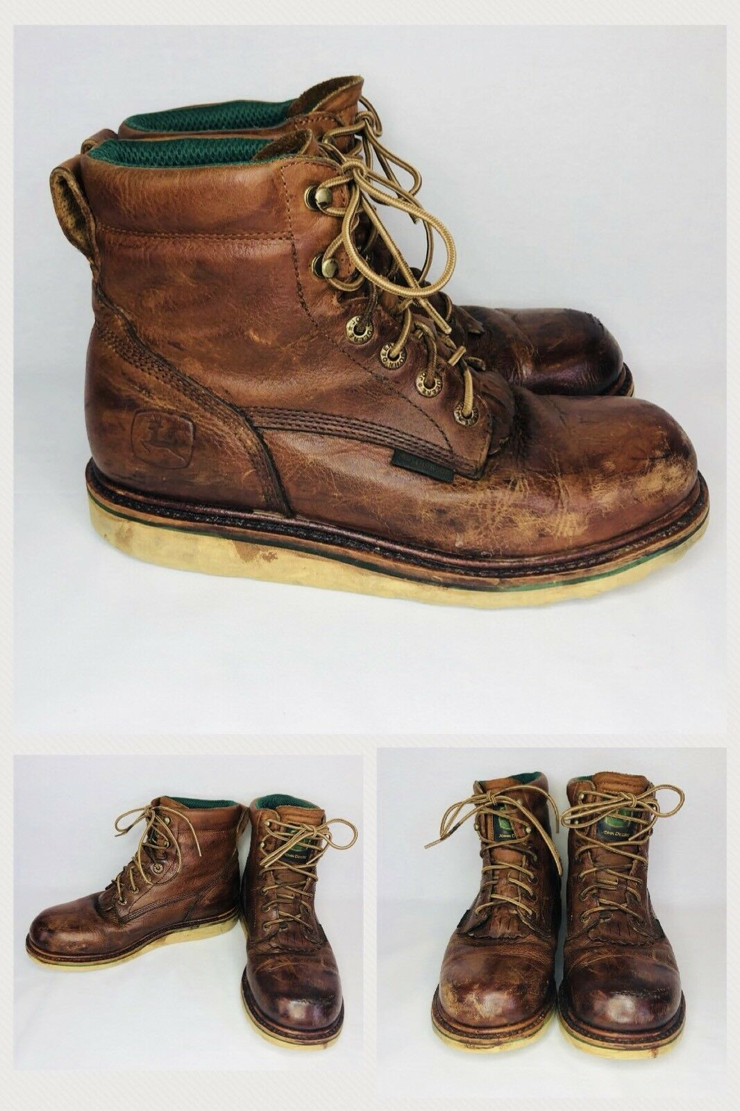 John Deere Men's Waterproof Dan Post Work Boots US Size 12 M Leather JD6102