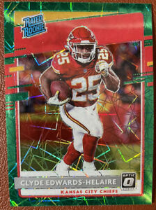 Panini Donruss Optic Rated Rookie Clyde Edwards-Helaire RC Green Velocity Prizm