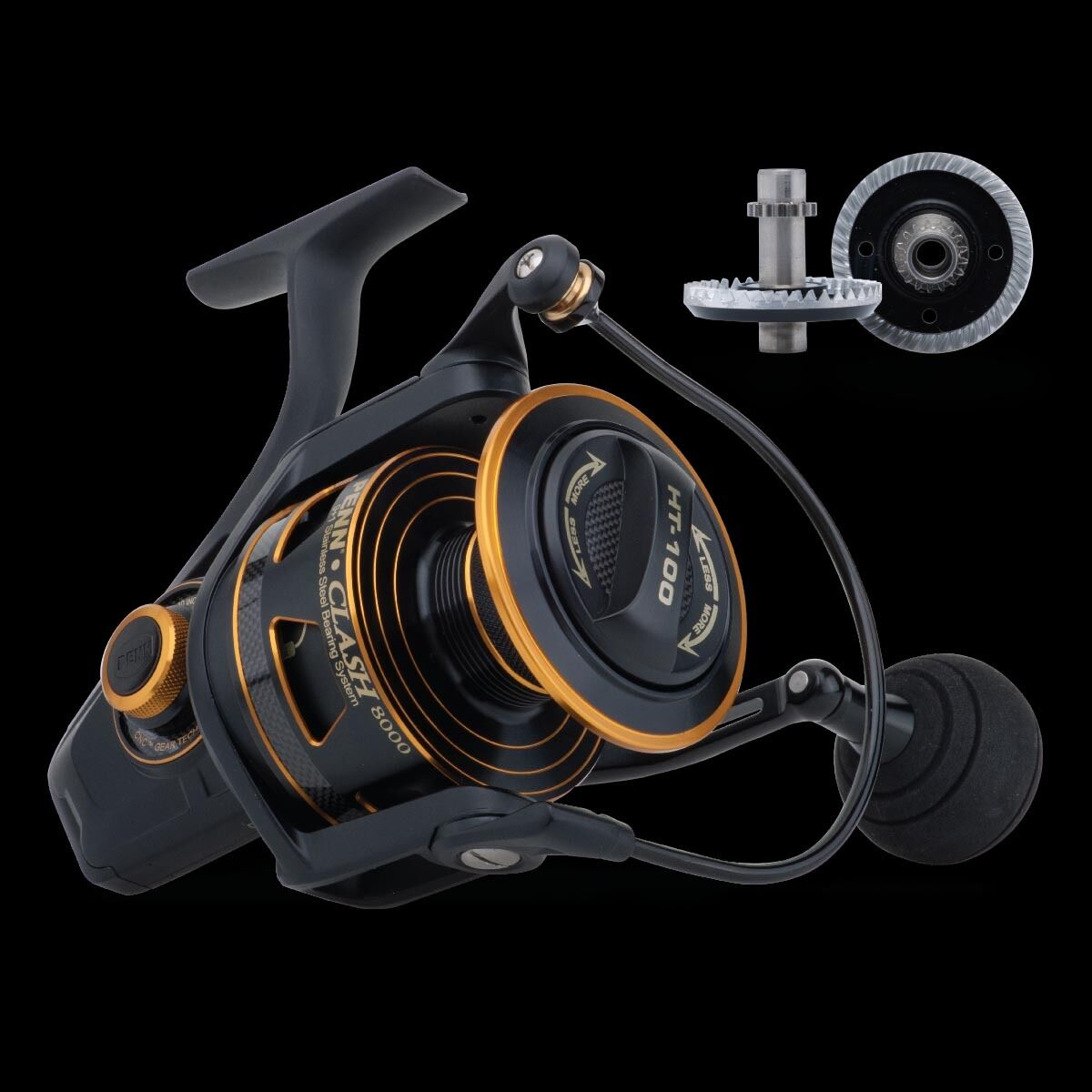 Penn Clash CLA 6000 Spinning Fishing Reel + Free Line + Warranty