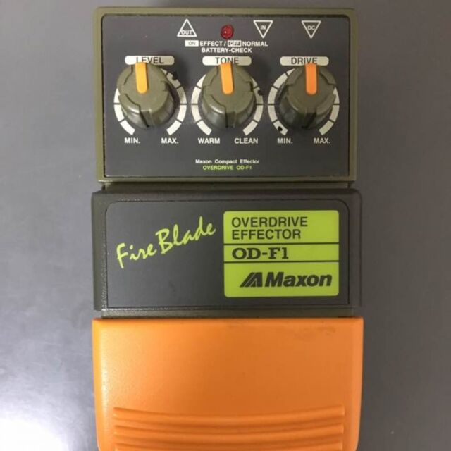 Used! MAXON OD-F1 Fire Blade Overdrive Vintage Guitar Effect Pedal Made in Japan