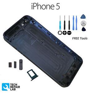 Nuevo-Metal-Trasera-Carcasa-con-Bateria-Recambio-para-Iphone-5-Gris-Pizarra