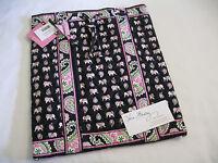 Vera Bradley Pink Elephants Backsack Backpack Bookbag Handbag Tote Diaper