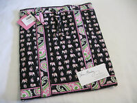 Vera Bradley Pink Elephants Backsack Backpack Bookbag Handbag Tote Diaper