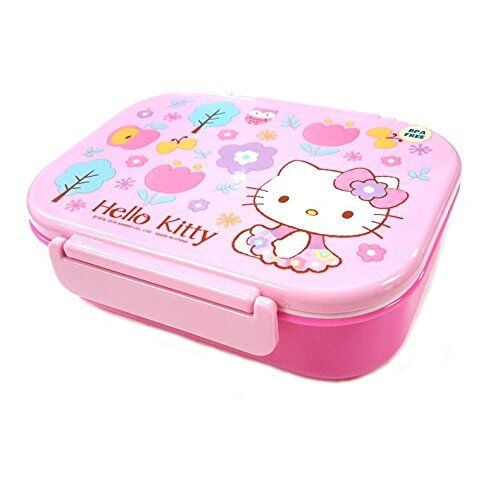 Happy Wood Sanrio Hello Kitty Lunch Container W Spoon /& Fork