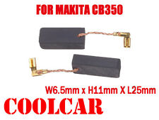 Carbon Brushes For Makita CB350 194160-9 6.5X11X25mm  HR4001C 3210FCT HR4011C