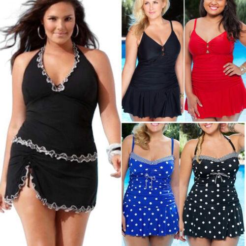 Plus Size Womens Tankini Bikini Sets Swimsuit Swim Dress Pool Swimwear Beachwear