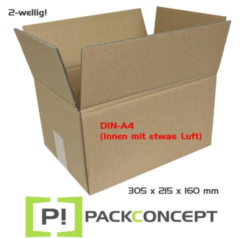 Faltkarton 2-wellig 305 x 215 x 160 mm; Karton; DIN-A4; Versandkarton; Nr.6
