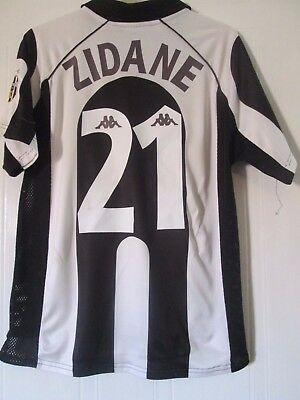 Juventus 1997 1998 Zidane 21 Home Football Shirt Size Medium 41959 Ebay