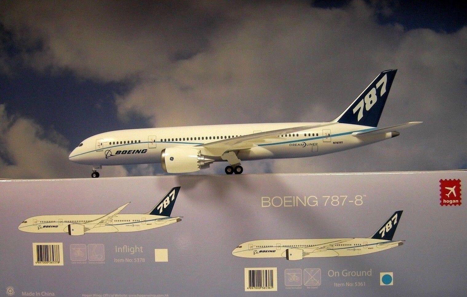 Hogan Wings 1 200 Boeing 787-8 Boeing color N787ft Li5361 + Herpa Wings Catálogo