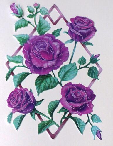 Single//mixto colores y Llano Tattered Lace Precious Moments Rose-conjuntos de 5//10