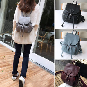 Image is loading Real-Leather-Small-Mini-Backpack-Rucksack-Daypack-Travel- 88ef39b8f9a30