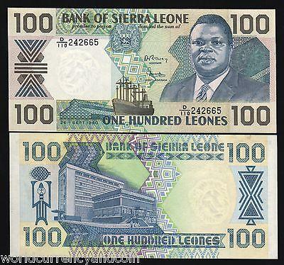 SIERRA LEONE 100 LEONES 1990 P 18 UNC