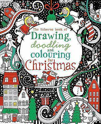 1 of 1 - Drawing, Doodling & Colouring: Christmas (Usborne Art Ideas),New Condition