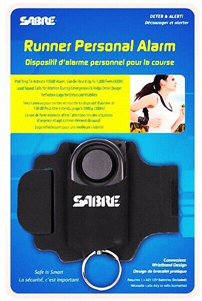 Wrist Strap SABRE RPA-01  Runner Personal Alarm 130dB w Reflective Weather Rest