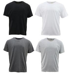 Men-039-s-Plain-100-Cotton-T-Shirt-Basic-Blank-Adult-Tee