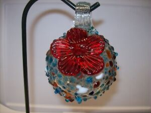 "Parasol ""Droplet"" (Sprinkles) Mini Hand Blown Glass Hummingbird Feeder"