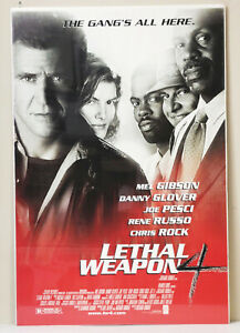 Lethal Weapon 4 1998 One Sheet Original Poster 27 X 40 Mel Gibson D Glover Ebay
