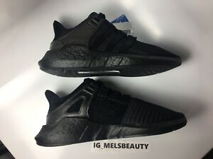 quality design 43a5a 4c482 Image is loading Adidas-EQT-Support-93-17-Core-Black-CUSTOM-