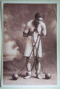 XL-Format-Very-HiQ-Poster-Harry-Houdini-in-1908-Magician-Escape-Artist-36-x-24