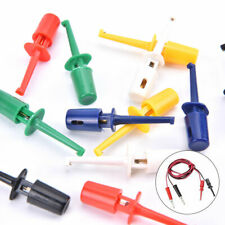 12 Small Useful Multimeter Lead Wire Test Probe Hook Clip Grabbers Connectoqa