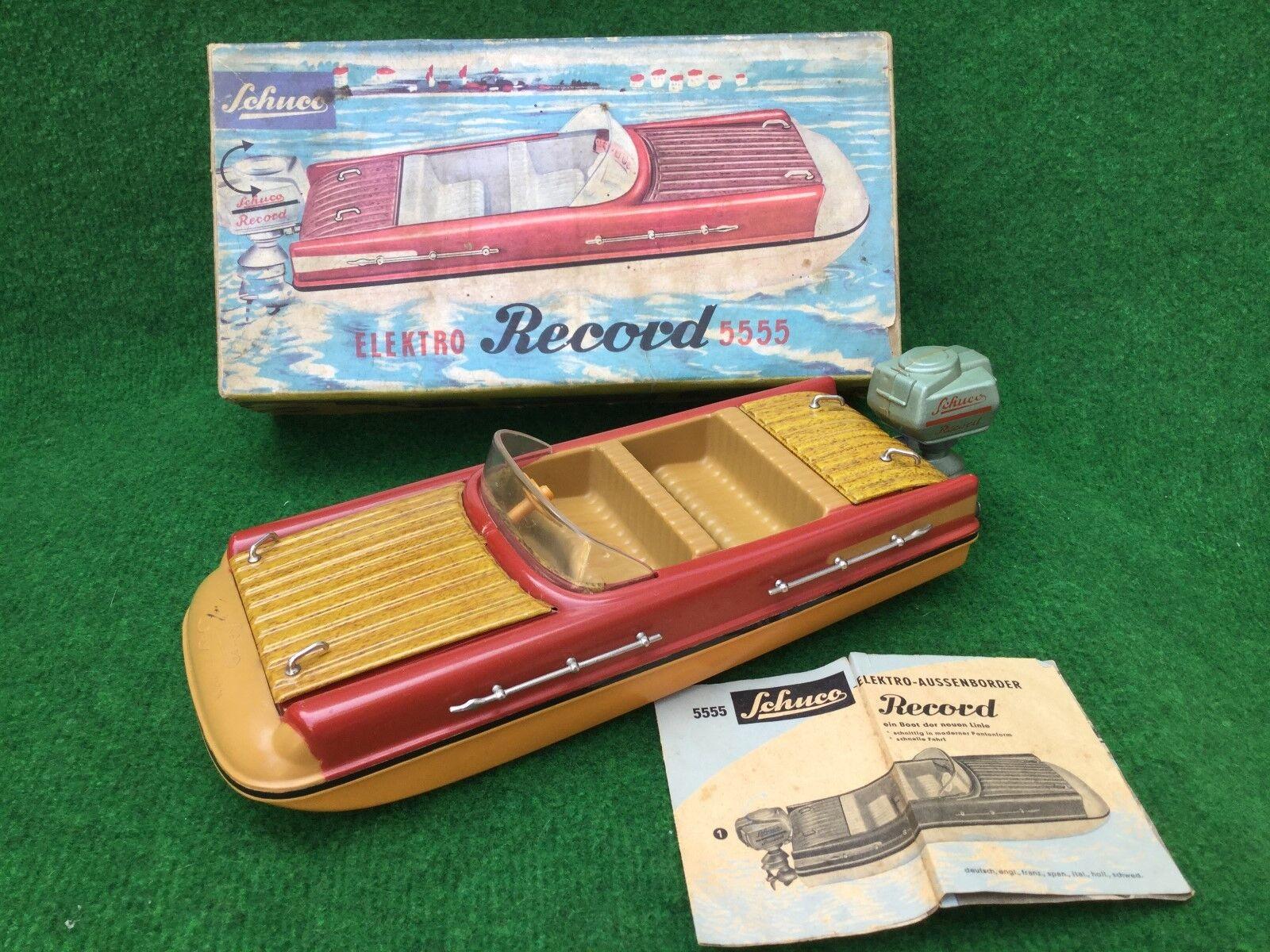 Schuco Elektro record 5555 bota boat W. Germany Boxed