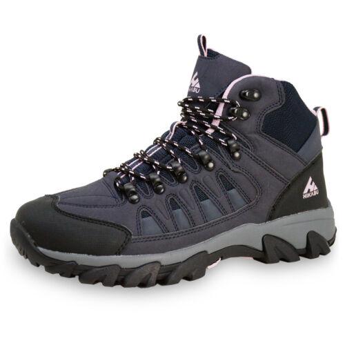 HIKABU Damen Outdoor Trekking Wander Freizeit Schuhe Gummisohle Walking Knöchel