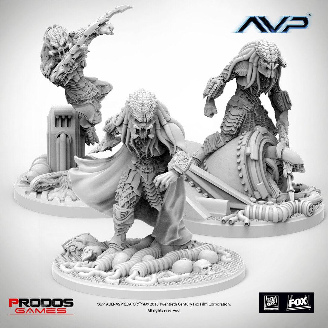 Alien Vs Predator The Hunt Begins Predator Elders Expansion Board Game AVP UK