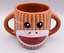 thumbnail 1 - Galerie DOUBLE SIDED GRAY SOCK MONKEY Ceramic Coffee Tea Cocoa Mug Cup 16 oz