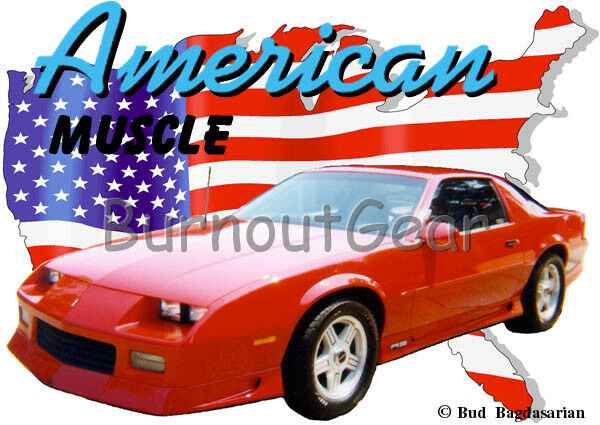 1991 ROT Chevy Camaro Custom Hot Rod USA T-Shirt 91 Muscle Car Tee's