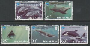 Ile-de-Man-1998-Annee-Du-Ocean-Baleines-amp-Dauphins-Ensemble-MNH-Sg-798-802