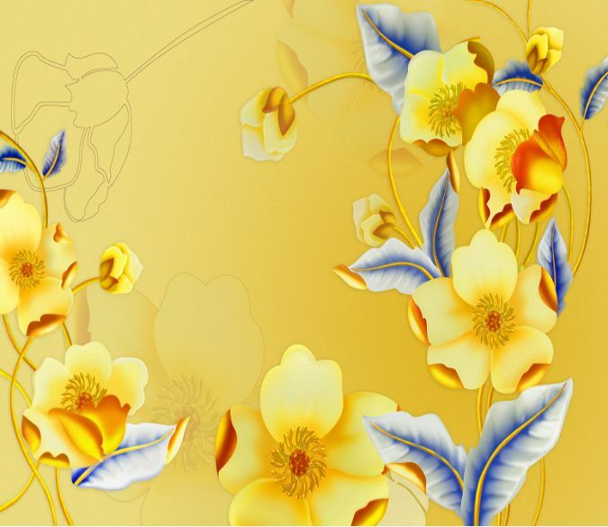3D Bright Flowers 618 WallPaper Murals Wall Print Decal Wall Deco AJ WALLPAPER