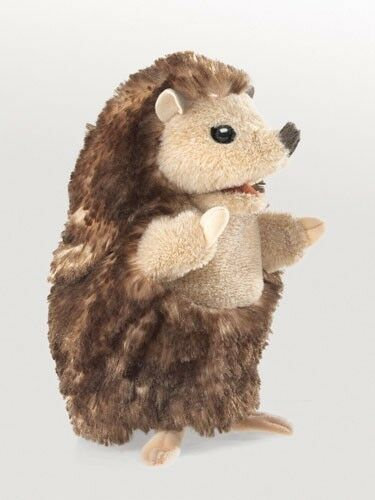 BABY HEDGEHOG PUPPET # 3056 ~ New 2015 ~ Free Ship to USA ~ FOLKMANIS PUPPETS~