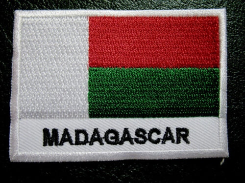 REPUBLIC OF MADAGASCAR MALAGASY NATIONAL FLAG Sew on Patch Free Postage