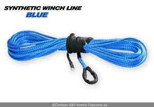 "KFI Winch Synthetic Winch Line Cable 3/16"" x 50' Blue"