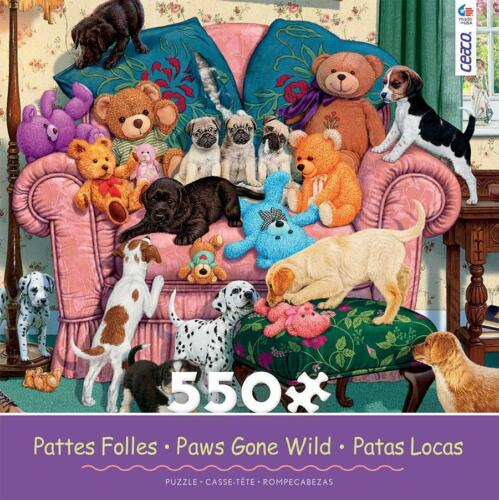 CEACO PAWS GONE WILD PUZZLE GRANDMA/'S ARMCHAIR STEVE READ PUPPIES 550 PC #2323-4