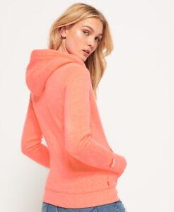 los angeles 52c4c 13d08 Details about New Womens Superdry Orange Label Primary Zip Hoodie Starburst  Coral Snow