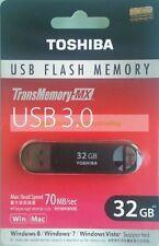 Toshiba Black USB 32GB 32G Suzaku TransMemory-MX USB3.0 Flash Pen Drive New