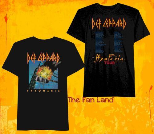 New Def Leppard Pyromania Hysteria 1983 1984 Tour Men/'s Vintage Mens T-Shirt