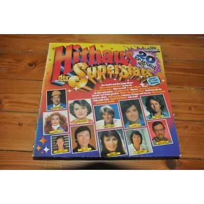 VA Sampler - Hithaus der Superstars - 20 Hits Deutsch 80er 80s - Album Vinyl LP
