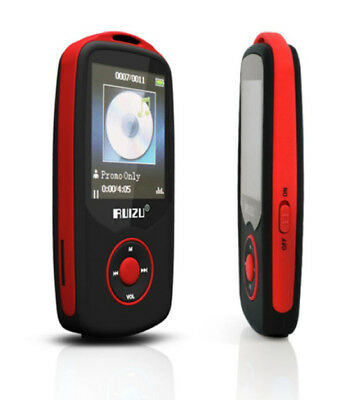 NEW RED RUIZU 4GB BLUETOOTH SPORTS LOSSLESS MP3 MP4 PLAYER MUSIC VIDEO FM TUNER