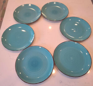 New Royal Norfolk Turquoise Dinner Plates Set Of 6. Beautiful!!