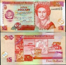 Belize - 5 dollars -  UNC currency note - 2011 issue