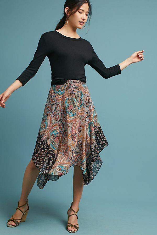Anthropologie Jazmin Paisley Skirt Floral XS Size 0